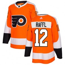 Adidas Men Philadelphia Flyers 12 Michael Raffl Orange Home Authentic Stitched NHL Jersey