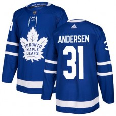 Adidas Men Toronto Maple Leafs 31 Frederik Andersen Blue Home Authentic Stitched NHL Jersey