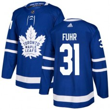 Adidas Men Toronto Maple Leafs 31 Grant Fuhr Blue Home Authentic Stitched NHL Jersey