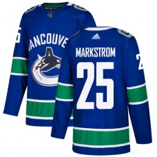 Adidas Men Vancouver Canucks 25 Jacob Markstrom Blue Home Authentic Stitched NHL Jersey