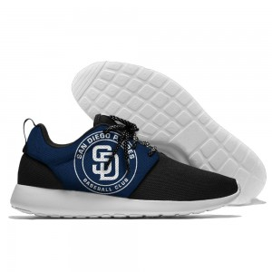 Men  San Diego Padres Roshe style Lightweight Running shoes 1