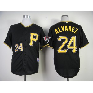 Men Pittsburgh Pirates 24 Alvarez Black MLB Jerseys