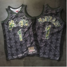 Men Orlando Magic 1 Mcgrady Black Trowback Camo Swingman NBA Jersey