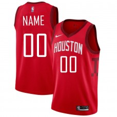 Customized Men Houston Rockets Red Swingman Earned Edition NBA Jersey
