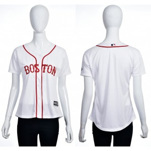 2016 MLB Boston Red Sox Blank white women jerseys
