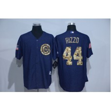 2016 MLB Chicago Cubs 44 Rizzo Cowboy blue camouflage