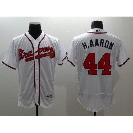 2016 MLB FLEXBASE Atlanta Braves 44 H.Aaron white jerseys