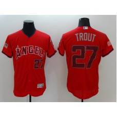 2016 MLB FLEXBASE Los Angeles Angels 27 Trout Red1 Fashion Jerseys