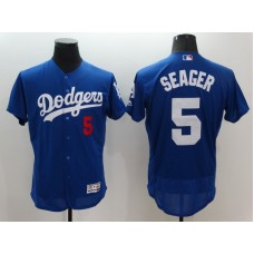 2016 MLB FLEXBASE Los Angeles Dodgers 5 Seager Blue Jerseys