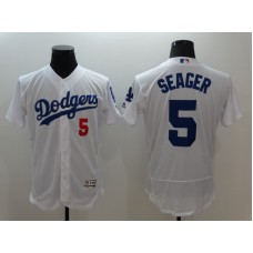 2016 MLB FLEXBASE Los Angeles Dodgers 5 Seager White Jersey