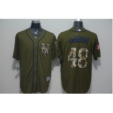 2016 MLB New York Mets 48 Jacob DeGrom Green Salute to Service Stitched Baseball Jersey