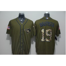 2016 MLB New York Yankees 19 Masahiro Tanaka Green Salute to Service Stitched Baseball Jersey