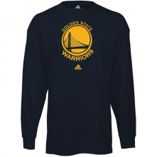 2016 NBA Golden State Warriors Navy Blue Prime Logo Long Sleeve T-shirt