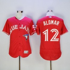 2016 Toronto Blue Jays 12 Roberto Alomar Red Flexbase Authentic Collection Canada Day Stitched Baseball Jersey
