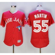 2016 Toronto Blue Jays 55 Russell Martin Red Flexbase Authentic Collection Canada Day Stitched Baseball Jersey