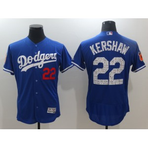 2017 MLB Los Angeles Dodgers 22 Kershaw Blue Jerseys