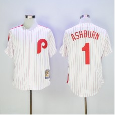 2017 MLB Philadelphia Phillies 1 Ashburn White stripe Game Throwback Jerseys