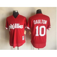 2017 MLB Philadelphia Phillies 10 Darren Daulton Red Throwback Jerseys
