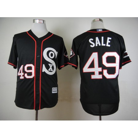 MLB Chicago White Sox 49 Chris Sale 2015 Newest Style Black