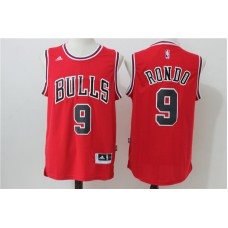 2016 NBA Chicago Bulls 9 Rondo Red Jerseys