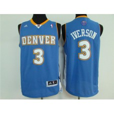 2016 NBA Denver Nuggets 3 Iverson sky blue jersey