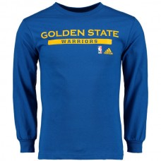 2016 NBA Golden State Warriors adidas Cut and Paste Long Sleeve T-Shirt - Royal