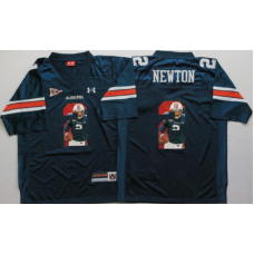 2016 NCAA Auburn Tigers 2 Newton Blue Fashion Edition Jerseys