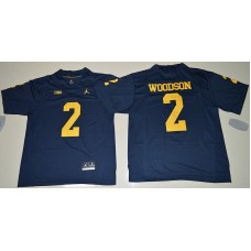 2016 NCAA Jordan Brand Michigan Wolverines 2 Charles Woodson Navy Blue College Football Limited Jersey