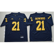 2016 NCAA Jordan Brand Michigan Wolverines 21 Desmond Howard Navy Blue College Football Limited Jersey