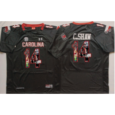 2016 NCAA South Carolina Gamecock 14 C.Shaw Black Fashion Edition Jerseys