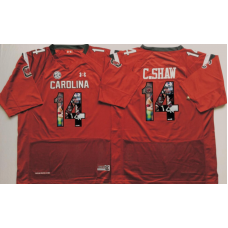 2016 NCAA South Carolina Gamecock 14 C.Shaw Red Fashion Edition Jerseys