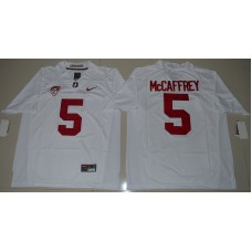 2016 NCAA Stanford Cardinal 5 Christian McCaffrey White College Football Jersey