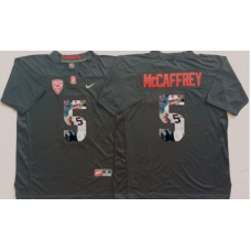 2016 NCAA Stanford Cardinals 5 Mccaffrey Black Fashion Edition Jerseys