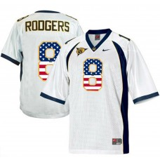 2016 US Flag Fashion Men California Golden Bears Aaron Rodgers 8 College Football Jersey  White