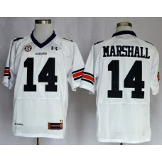 NCAA Auburn Tigers 14 Nick Marshall White Football Jerseys