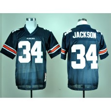 NCAA Auburn Tigers 34 Bo Jackson Navy Blue College Football Throwback Jersey.