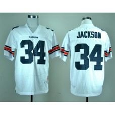 NCAA Auburn Tigers 34 Bo Jackson White College Football Throwback Jersey
