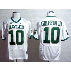 NCAA Baylor Bears 10 Robert Giffin III White Nike Pro Combat College Football Jersey