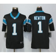 2016 Carolina Panthers 1 Newton Black Nike Limited Jerseys