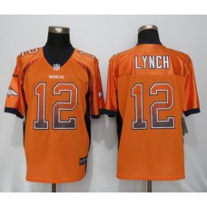 2016 Denver Broncos 12 Lynch Drift Fashion Orange NEW Nike Elite Jerseys