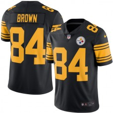 2016 Men Pittsburgh Steelers 84 Antonio Brown Nike Black Color Rush limited Jersey