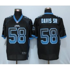 2016 NEW Nike Carolina Panthers 58 Davis sr Drift Fashion Black Elite Jerseys