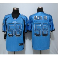 2016 NEW Nike Carolina Panthers 58 Davis sr Drift Fashion Blue Elite Jerseys