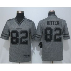 2016 New Nike Dallas Cowboys 82 Witten Gray Stitched Gridiron Gray Limited Jersey