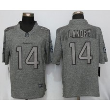 2016 New Nike Miami Dolphins 14 Landry Gray Men Stitched Gridiron Gray Limited Jersey