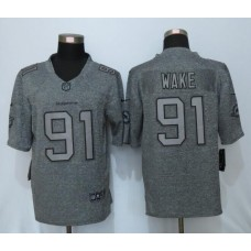 2016 New Nike Miami Dolphins 91 Wake Gray Men's Stitched Gridiron Gray Limited Jersey