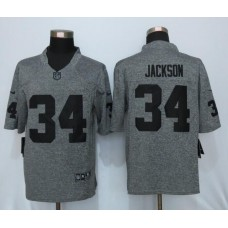 2016 New Nike Oakland Raiders 34 Jackson Gray Men's Stitched Gridiron Gray Limited Jersey