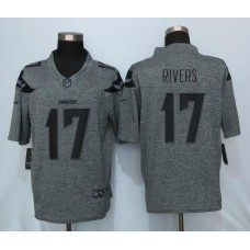 2016 New Nike Los Angeles Chargers 17 Rivers Gray Mens Stitched Gridiron Gray Limited Jersey