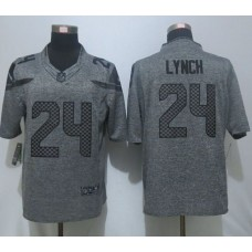 2016 New Nike Seattle Seahawks 24 Lynch Gray Men's Stitched Gridiron Gray Limited Jersey