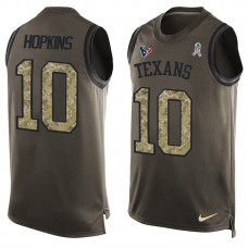 2016 Nike NFL Houston Texans 10 Hopkins men Olive Salute To Service Limited Tank Top Jersey